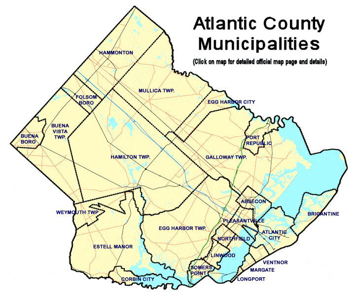 Atlantic County New Jersey Detailed Profile Travel And Real - County map of new jersey