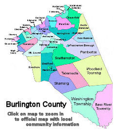 Burlington County New Jersey Resource Center South Jersey - Burlington map