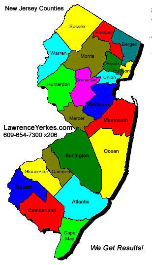 Lawrence Yerkes NJ County Libraries New Jersey Public Records - County map of new jersey