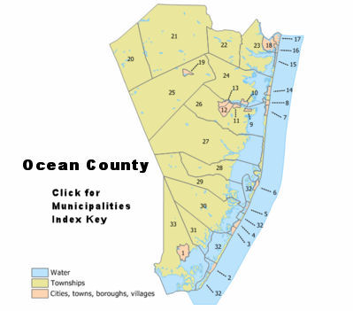 Ocean County New Jersey Detailed Profile Travel And Real Estate - New jersey towns map